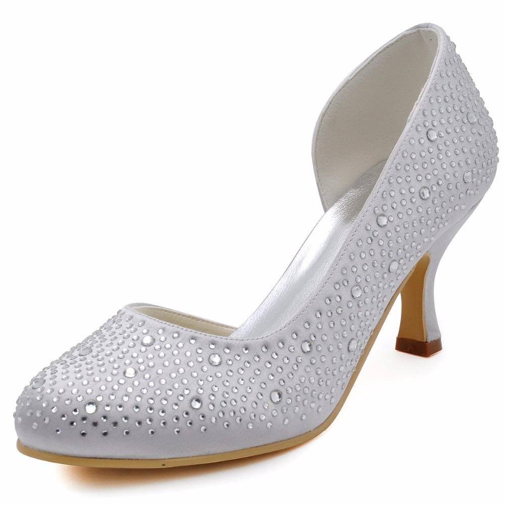 EP2129 Shoes Woman Ivory White Evening Party Prom Closed ...