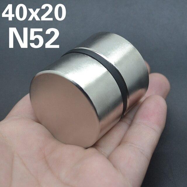 2pcs Magnete Al Neodimio N52 40x20mm Super Strong Rotonda terra Rara di NdFeB Potente Gallio metallo altoparlante magnetico n35 40*20 millimetri Disco