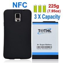 Superduty batteria For Samsung Galaxy Note4 N9100 Phone 11800mAh Extended Replacement NFC Battery + TPU Protective Case Cover