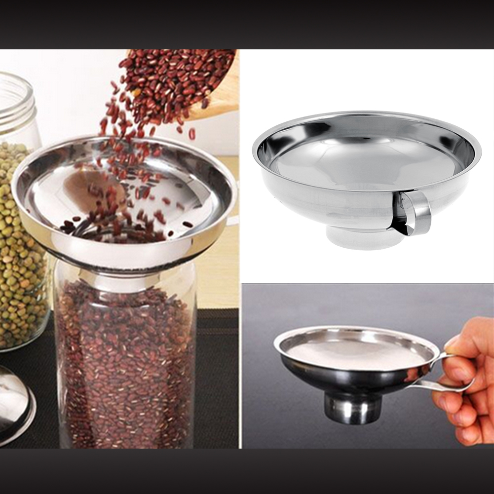 Kitchen Funnel: Stainless Steel Funnel Kitchen Gadget Wide Mouth Canning