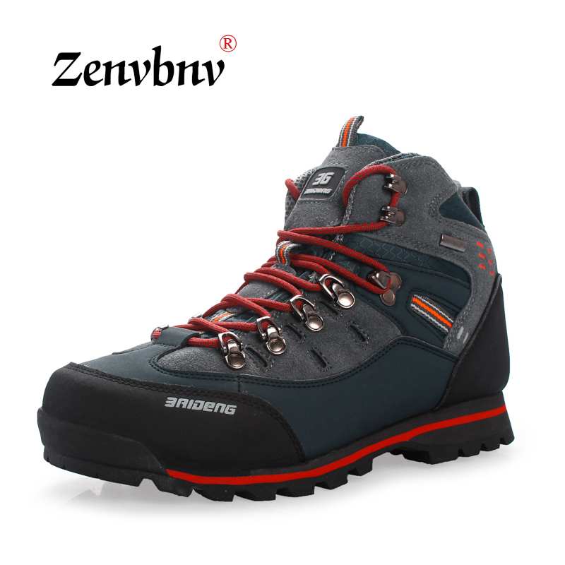 ZENVBNV Winter New Safety Shoes Men Ankle No Steel Toe Work Boots Fashion Cow suede combat boots zapatos botas hombre Outdoor