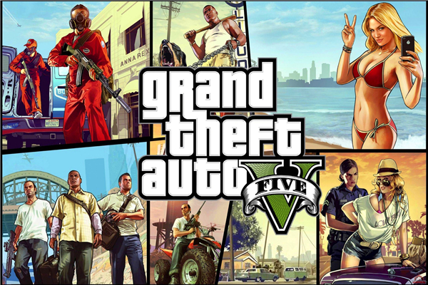 Custom Canvas Art Grand Theft Auto Poster GTA 5 San Andreas Game Wallpaper Grand Theft Wall Stickers Mural Home Decoration #783#