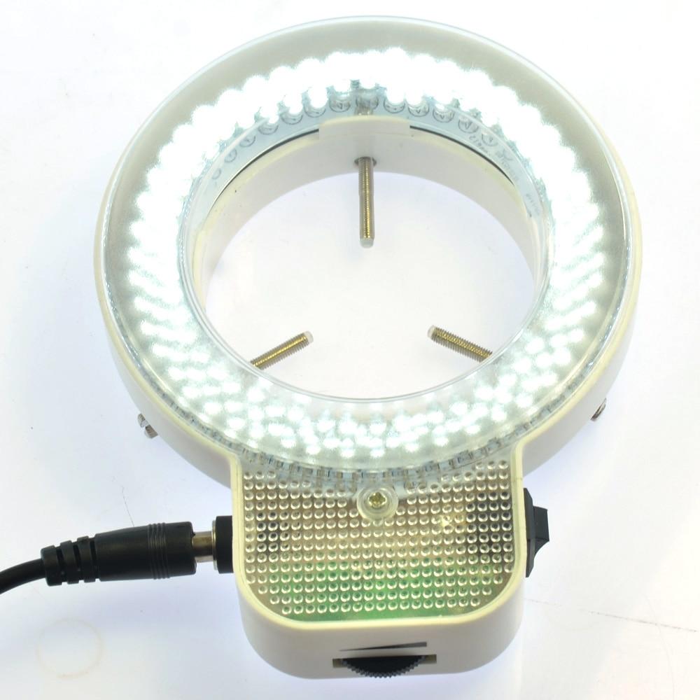 7W 144 LED Stereo Microscope LED Light Industrial Microscope Ring Light AC110-240V Illuminate Adjustable 40 250mm working distance 144 led microscope camera fluorescent ring light