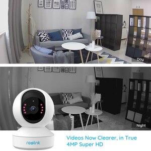 Image 3 - Reolink 4MP home security ip camera 2.4G/5G WiFi Pan&Tilt listen&talk SD card slot indoor Surveillance Camera E1 Pro