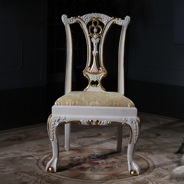 european antique furniture - baroque solid wood handcraft chair Free  shipping - European Antique Furniture - Baroque Solid Wood Handcraft Chair