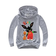 Kids Hoodies Girls Sweatshirt Boys Outwear Rabbit Bing Hoodies Street Fight Long Costumes Clothes Shirts Children's Sweatshirts s kids bing bunny cartoon print hoodies coats for boys girls rabbit long sleeves hoody sweatshirts for children costumes