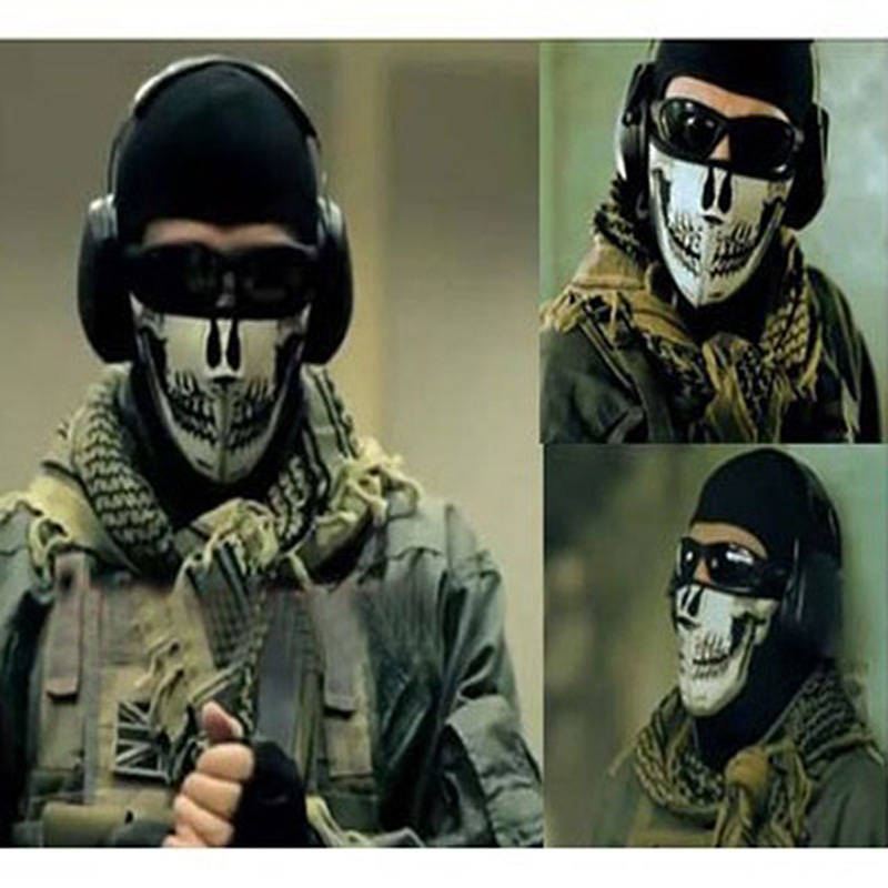 High Quality Hard PVC Airsoft Paintball Skeleton Skull Mask / Face Protective Games Batt ...