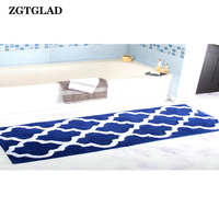 ZGTGLAD 1Pcs Soft Indoor Modern Area Non slip Carpet Fluffy Living Room Carpets Suitable Bathroom Bedroom Decor Rugs 45x120cm