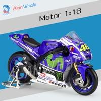 1 18 Scale New Moto GP Yamaha Factory Racing Metal Diecast Model Motorcycle Motorbike Racing Cars