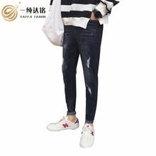 цены 2017 high quality men jeans Retro Teenage Jeans Slim Straight Pants 2017 Autumn Winter Casual Loose Pants Brand biker jeans male