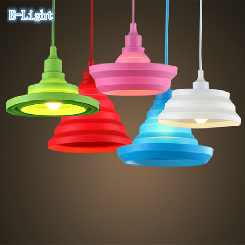Colorful E27 Home Wire Base 11 Colors DIY Flexible Shape Silica Gel Hanging  Ceiling Lamp Light Pendant Lighting Decor In Pendant Lights From Lights ...