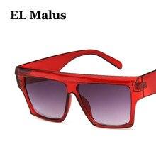 c1c8c2adc5 [EL Malus] grueso grande marco cuadrado gafas de sol hombre mujer Tan lente  espejo rojo rosa sombras UV400 gafas de sol sexy Lad.