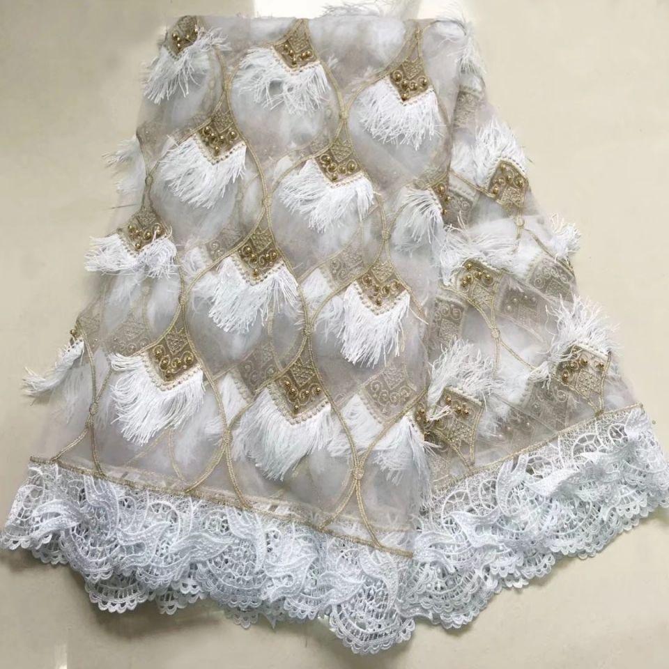 2018 nouveau Design africain sec dentelle tissus haute qualité coton dentelle tissu suisse Voile avec perles suisse Voile dentelle en suisse-in Dentelle from Maison & Animalerie    1