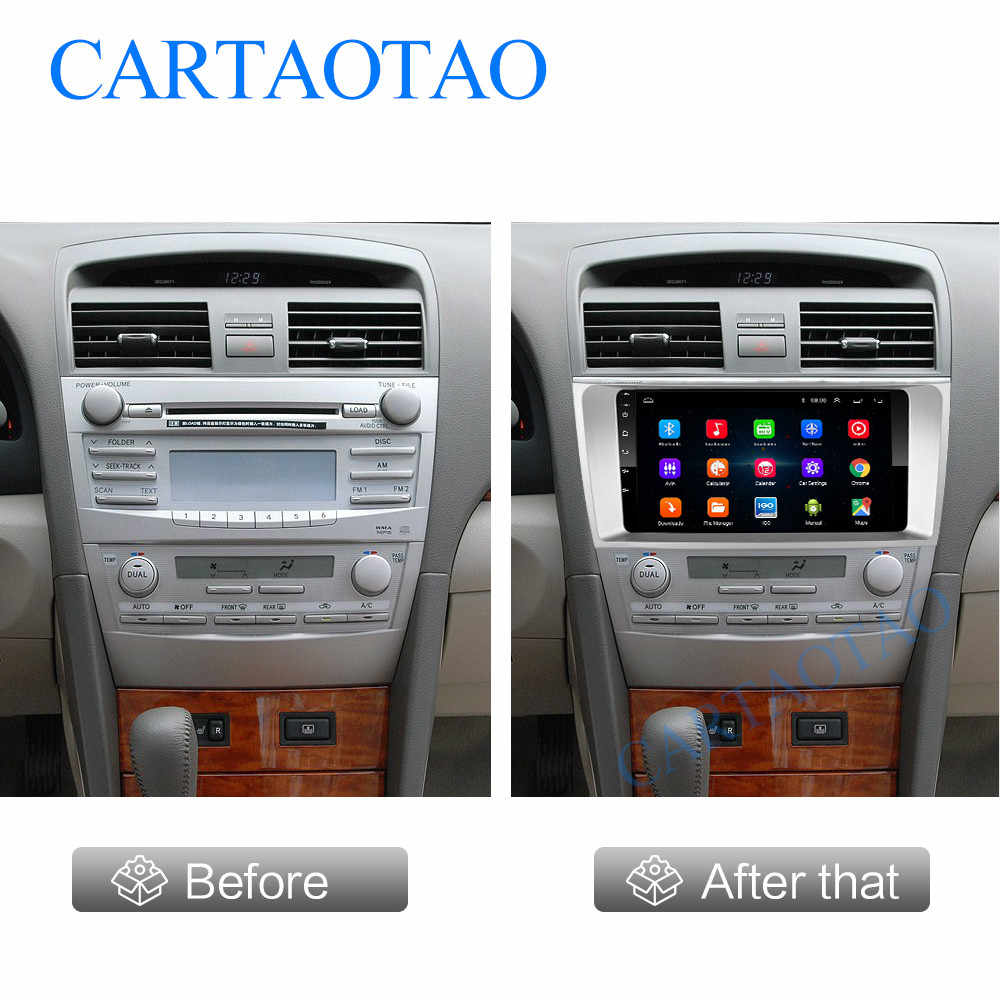 Lecteur multimédia autoradio Android 8.1 pour Toyota Camry 2006 2007 2008 2009 2din lecteur Bluetooth de navigation GPS autoradio