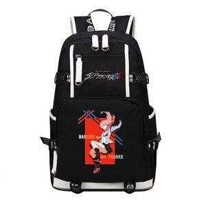 Image 4 - DitF DARLING in the FRANXX дорожный рюкзак ICHIGO MIKU ZERO TWO Cos женский рюкзак, холщовые школьные сумки для девочек подростков, Книжная сумка