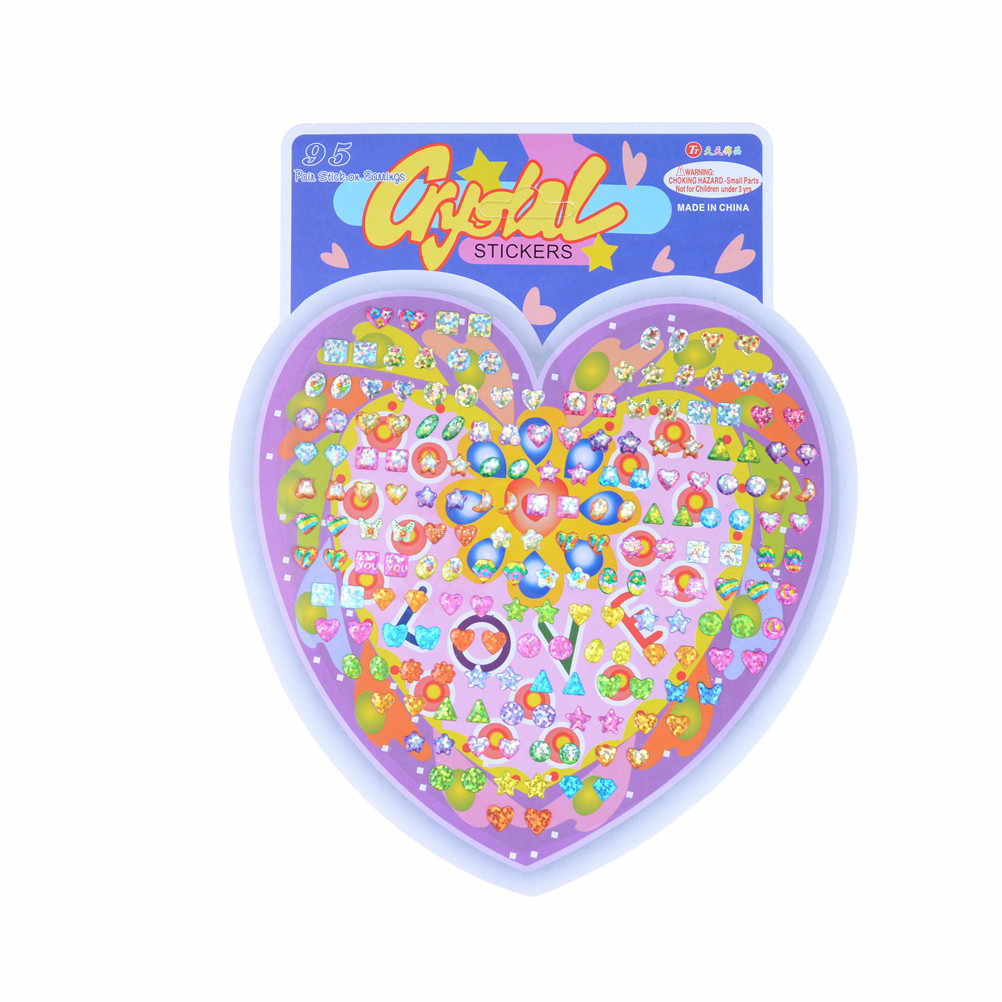 1Sheet Wonderful Earring Cartoon Reward Crystal Stickers Children Boy Girl Stickers Ear Reward Stick Kindergarten Face Stickers