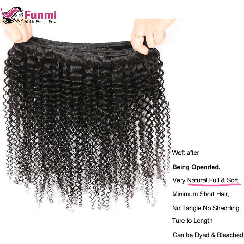 Buy Curly Human Hair Bundles Get Free Closure Malaysian Curly Hair Bundles Funmi 100% Virgin Human Hair Bundles Extensions