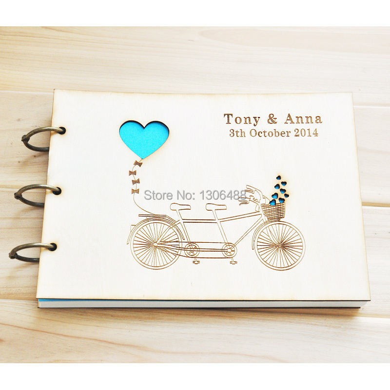 Personalized Wedding Guest Book Love Rustic Wedding