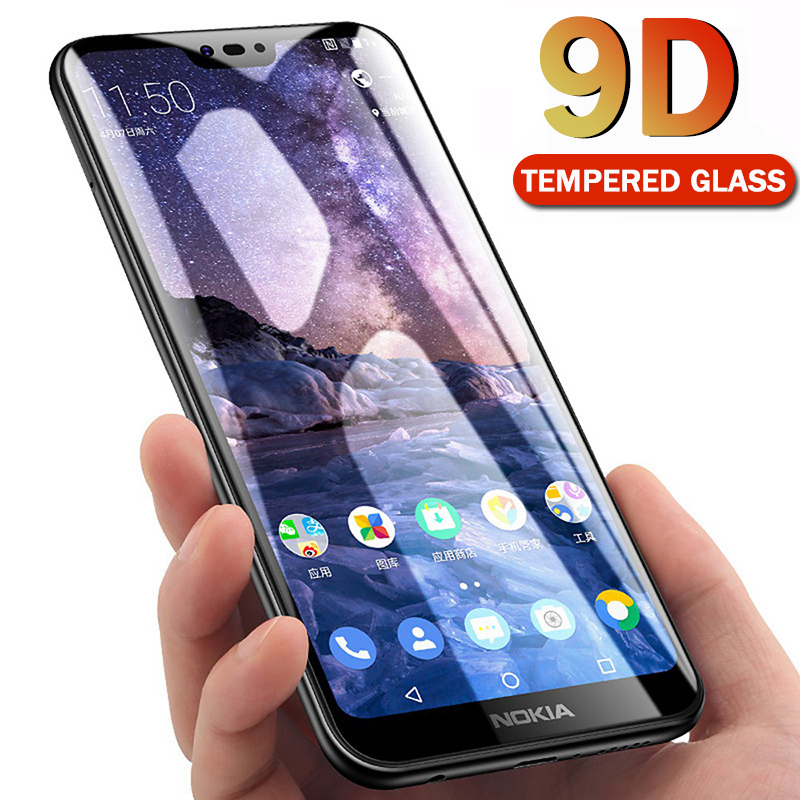9D Full Cover Tempered Glass For <font><b>Nokia</b></font> 3.2 4.2 <font><b>Screen</b></font> <font><b>Protector</b></font> Film For <font><b>Nokia</b></font> 2.1 3.1 <font><b>5.1</b></font> 6.1 7.1 Plus 8.1 X5 X6 X7 2018 Glass image