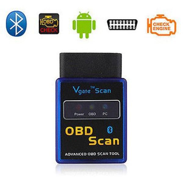 Prix pour ELM327 Bluetooth Vgate OBD Scanner v2.1 Auto Diagnostic Testeur & 1.5 M OBD1 à OBD2 16Pin Mâle à Femelle Câble D'extension de Voiture JC20
