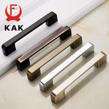 KAK Zinc Aolly Black Cabinet Handles American style Kitchen Cupboard Pulls Drawer Knobs Fashion Furniture Handle Door Hardware недорого