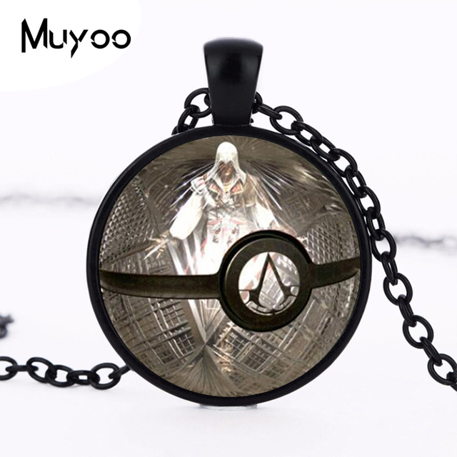 Cosplay jewelry assassins creed inspired pendant glass necklaces cosplay jewelry assassins creed inspired pendant glass necklaces pendants around statement choker necklace for men hz1 aloadofball Gallery