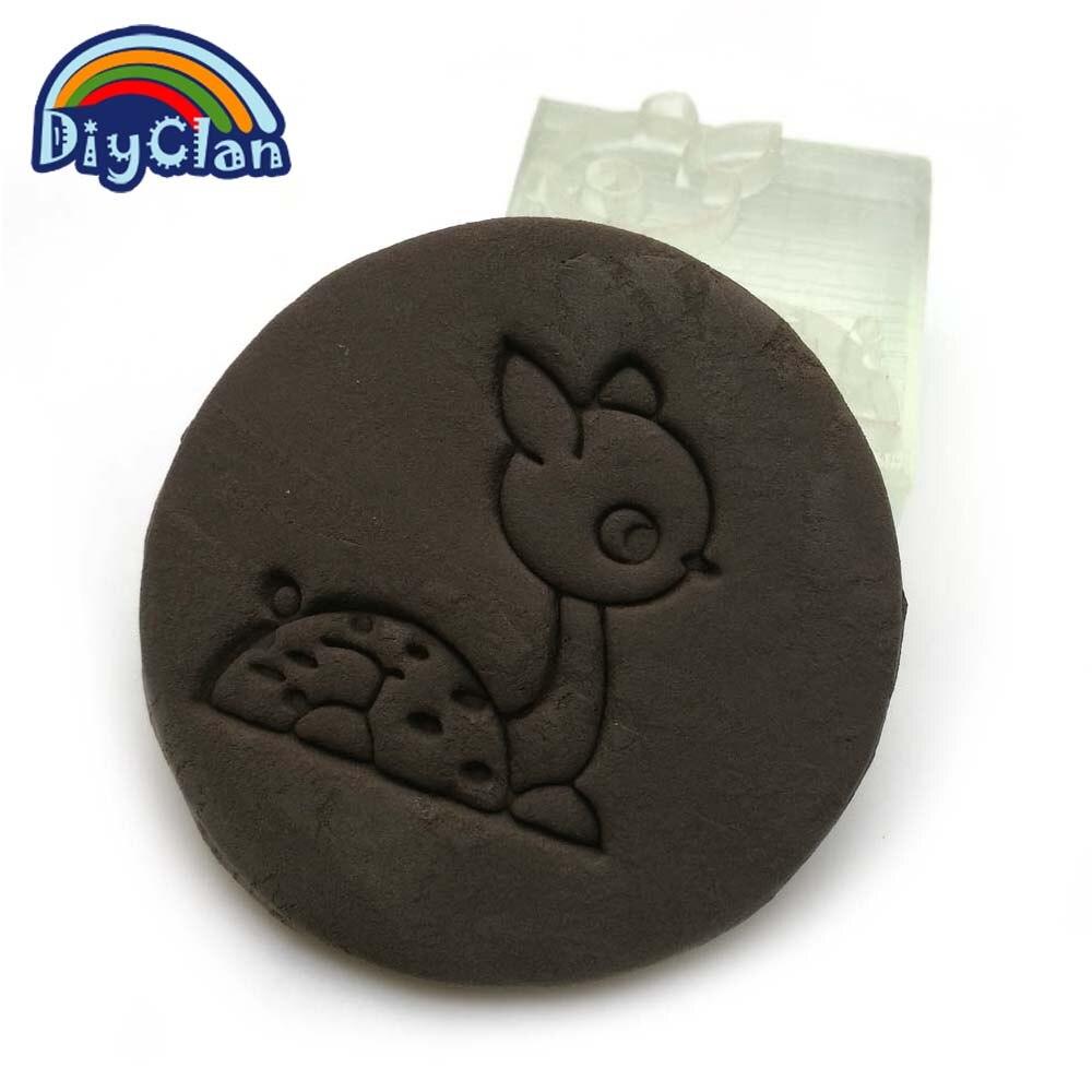 Sika deer handmade resin soap stamp custom DIY new resin Soap printed pattern heart soap chapter  Z0002XL