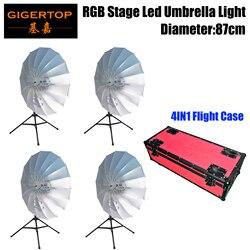 Darmowa wysyłka RGB parasolka LED z powrotem do ziemi oświetlenie sceniczne efekt mieszania kolorów CMY DMX512 kontroli Auto do biegania + 4in1 wypadku drogowego|Oświetlenie sceniczne|Lampy i oświetlenie -