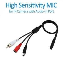 Doerguin Высокочувствительный внешний микрофон для ip-камер, включая ip-камеры с питанием по PoE с аудио в порте, расширенный Аудио Пикап