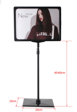 Hot sale supermaket pop advertising poster display stand rack A4 frame price tag sign Promotions card showing holder 10 sets