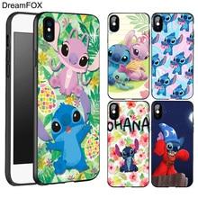 DREAMFOX L337 Cute Cartoon Stitch Black Soft TPU Silicone  Case Cover For Apple iPhone XR XS Max X 8 7 6 6S Plus 5 5S 5G SE защитное стекло partner для asus zenfone3 max 5 5 zc553kl 9h