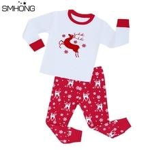 Детские рождественские пижамы Детская Пижама с оленем для девочек от 1 до 8 лет, одежда для сна для мальчиков детская пижама, комплекты одежды для малышей Детские пижамы