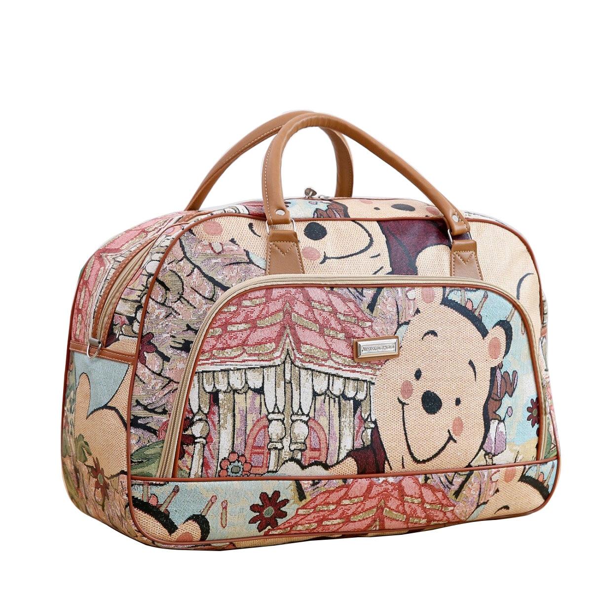 New Arrival Cartoon Travel Bag Children Hand Luggage Bag Waterproof PU Leather Travel Bag Duffle Bag Vintage Handbags