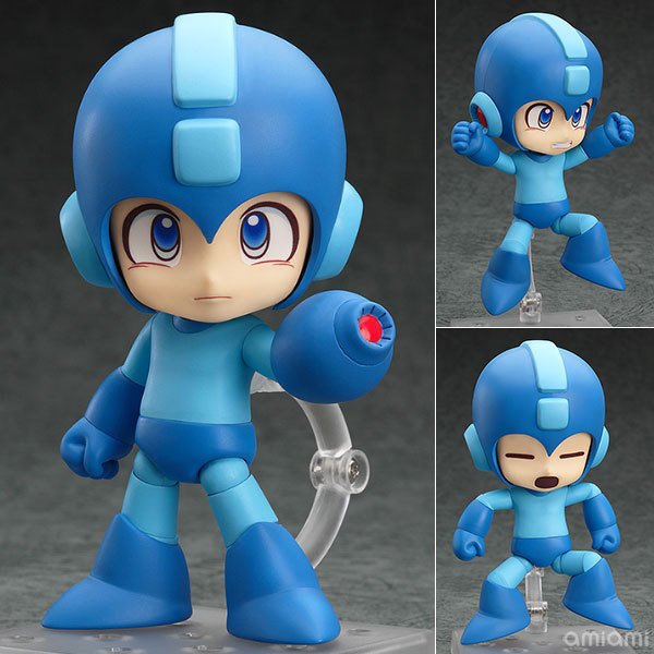 Anime Rockman Nendoroid action & toy figures Cute 556# Rock Man Figures Doll PVC ACGN Figure Garage Kit Toy Brinquedos 10cm 10cm spider man japanese anime lovely swing doll cute black panther mobile phone holder shaking head action