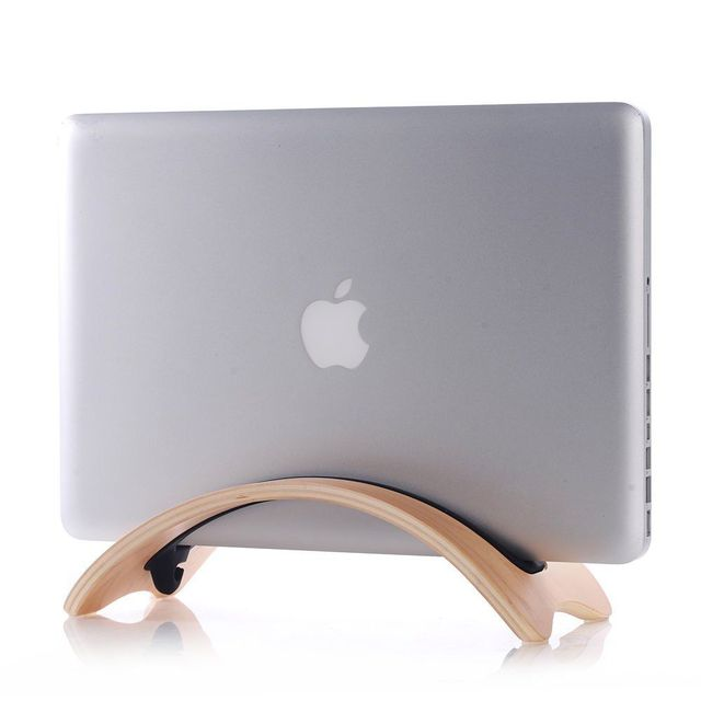 Ipad Pro 12.9,Blackwalnut Pro 13 15 Laptop Stand Wood Laptop Desktop Stand for MacBook Air Wooden Cooling Computer Stand