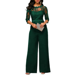 805786336883 ANSELF Lace Rompers Women Jumpsuit 2018 Long Sleeves