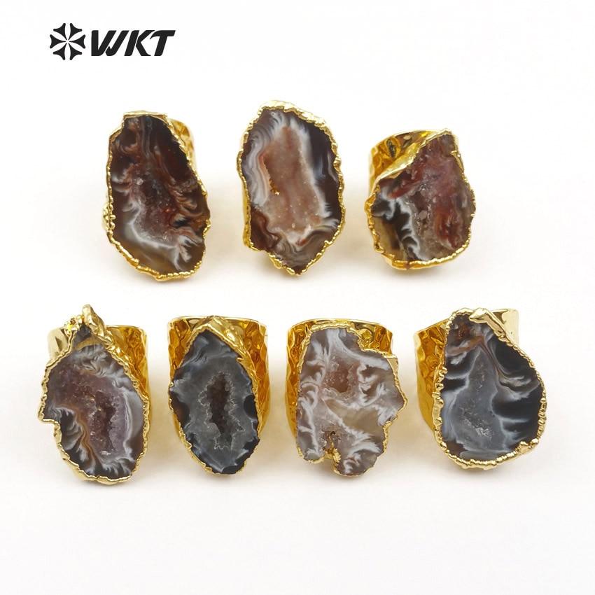 WT-R112 Exklusive Damenmode Slice Geode A Gate Ringe Erstaunliches - Modeschmuck - Foto 4