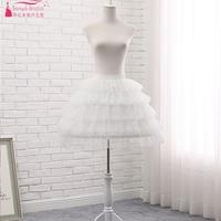 Lace Petticoat 5 Layers Puffy Short Dress Petticoat Wedding Petticoats Lolita Cosplay Steel Ring Underwear Skirt ZQ007