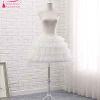 Lace Petticoat 5 Layers Puffy Short Dress Petticoat Wedding Petticoats Lolita Cosplay Steel Ring Underwear Skirt ZQ007