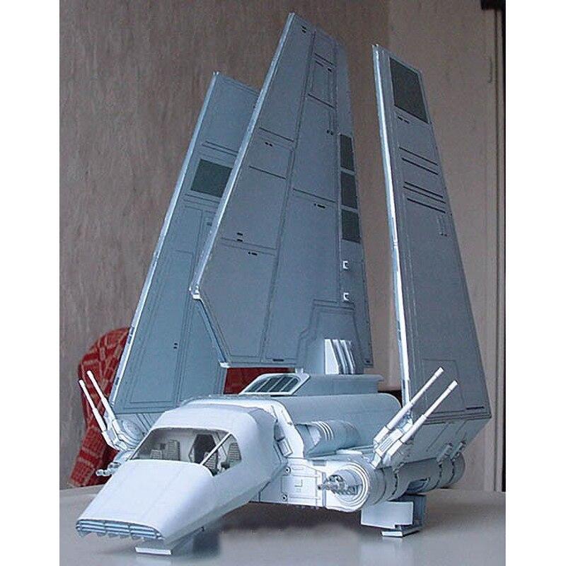 Paper Model 22cm High Star Wars Empire Lammda Shuttle Aircraft 3D  Handmade Airplane  DIY Papercraft Toy