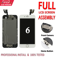 شاشة عرض درجة AAA 4.7 بوصة لهاتف iPhone 6 6G مجموعة كاملة من شاشات LCD للاستبدال الكامل لشاشة iPhone6 + زر منزلي