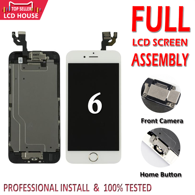 """Grade AAA 4.7"""" inch Display For iPhone 6 6G LCD Screen Full Set Assembly For iPhone6 Complete Display Replacement+Home Button"""