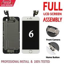 Tela lcd de 4.7 polegadas para iphone, conjunto completo de montagem para iphone 6, 6g e iphone substituição + botão início