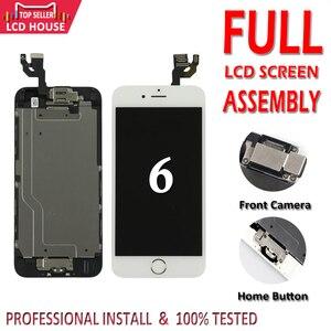 Image 1 - ЖК экран для iPhone 6 6G, 4,7 дюйма, класс AAA, полный комплект в сборе для iPhone6, полная замена дисплея + кнопка «домой»