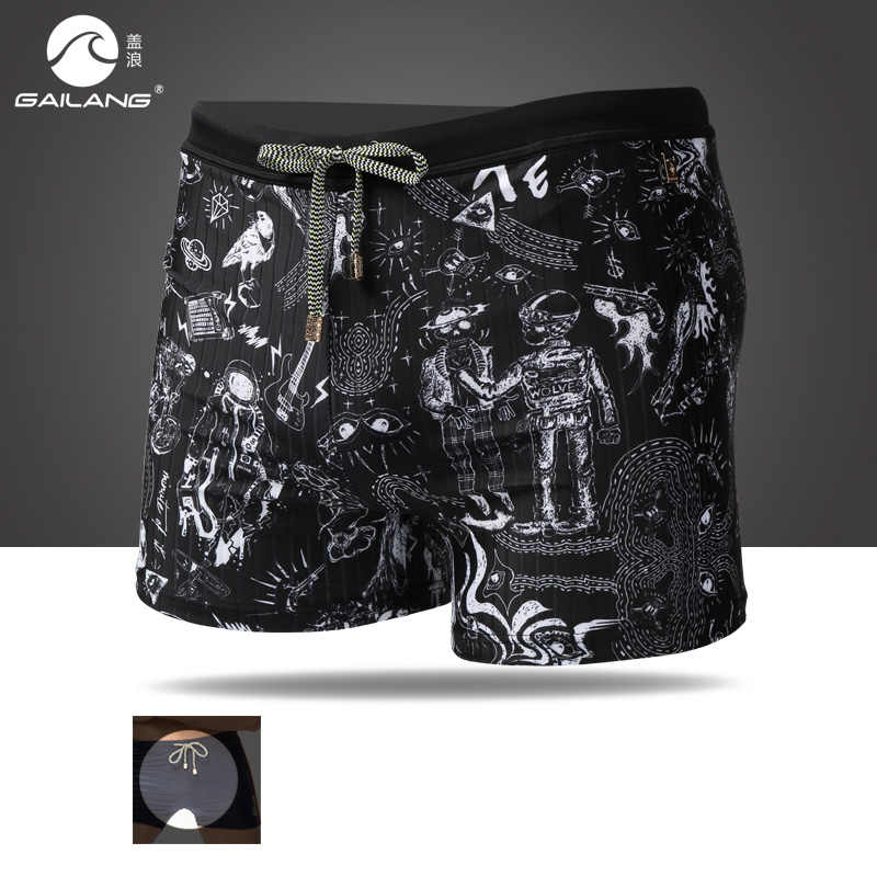 Summer men swimming trunks patchwork boxers swimwear bikini bathing suit briefs sexy repellent swim shorts swimsuit
