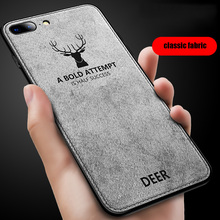 for iPhone 7 8 Plus case 8Plus cover silicone frame classic deer pattern fabric back cover for iPhone 7 7Plus 8 Plus case цены
