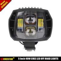 40W led Off Road Lights 5inch New Led Driving Light New led fog light used for car truck suv atv marine Cruiser 4wd 4x4 lamp x1