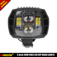 40W led Off Road Lights 5inch New Led Driving Light New led fog light used for car truck suv atv marine Cruiser 4wd 4x4 lamp x1