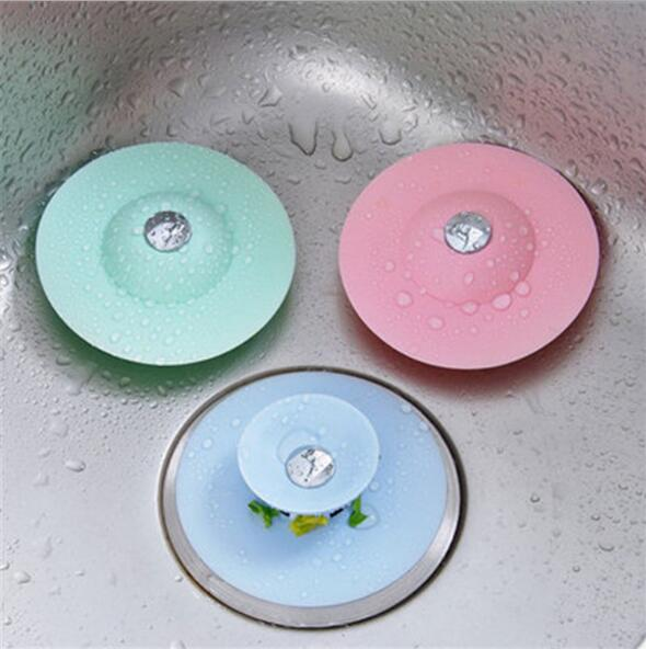Creative Kitchen Sink Silicone Flying Saucer Press Type Double Deck Insect-proof And Odor-proof Floor Drain Toilet Floor Drain