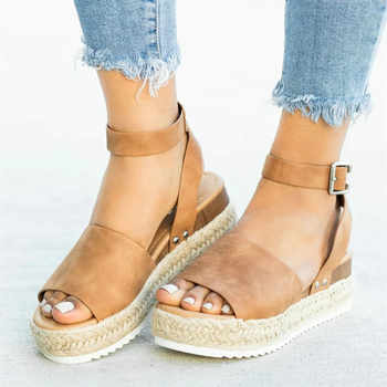 Women Sandals Wedges Shoes For Women High Heels Sandals Summer Shoes Female Platform Sandals Chaussures Femme Plus Size 2019 - DISCOUNT ITEM  46% OFF All Category